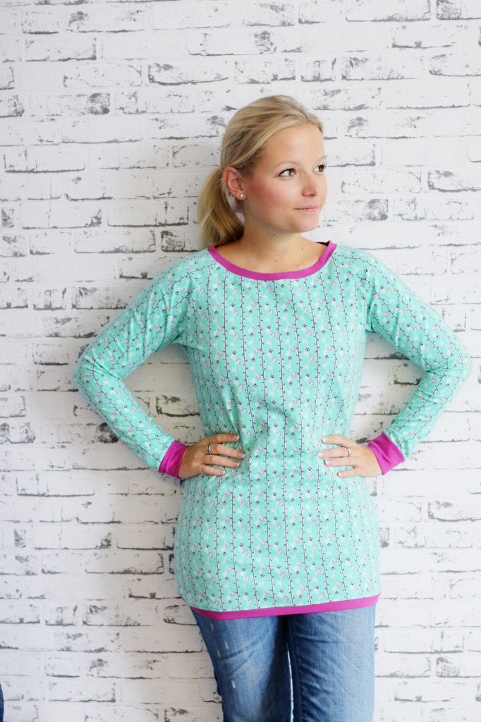 Free pattern raglan shirt by Alles für Selbermacher
