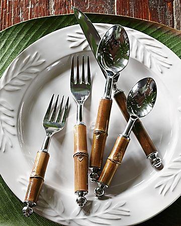 Tommy Bahama - Bamboo Cutlery Set