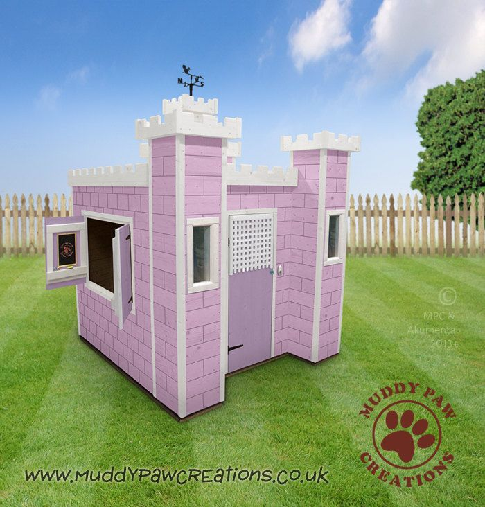 Childrens wooden playhouse wendy house play by for Wooden wendy house ideas