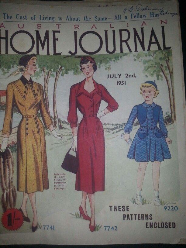 Australian home journal July 1951 cover