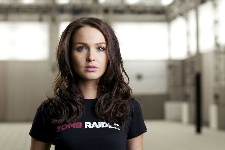 Lara Croft as Camilla Luddington (Tomb Raider) you may also recognize her from Greys Anatomy and other things.