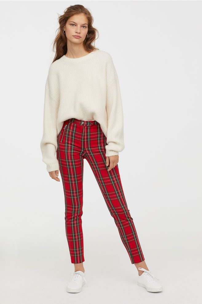a3aaea2a577702 Fitted Slim-fit Pants in 2019 | Dream Closet | Plaid pants outfit ...