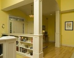 Half Walls With Shelf, Wainscoting, Trim, Column. Pine Lake   Traditional    Entry   Grand Rapids   By Rivertown Homes By Design