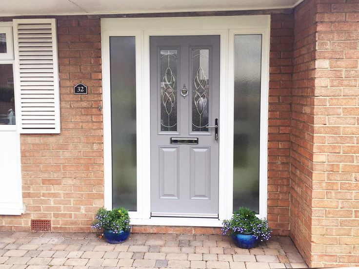 This lovely Installation is the ever popular Altmore Composite door, in chic, elephant grey, making the exterior of this home stunning & Stylish!