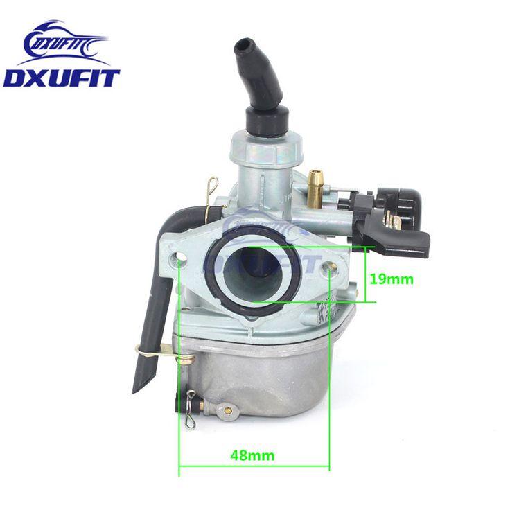 DXUFIT PZ19 19mm Motorcycle Carburetor 50cc 70cc 90cc 110cc 125cc ATV 110cc Dirt Bike Go Kart Carb Hand Choke Cable Carburetor