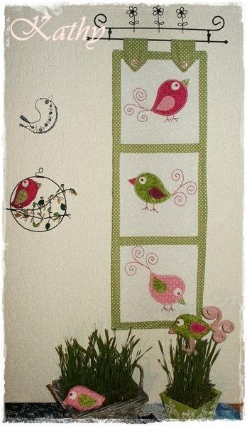 Birds Quilt Quilt s aplikacemi ptáčků :: Kathy