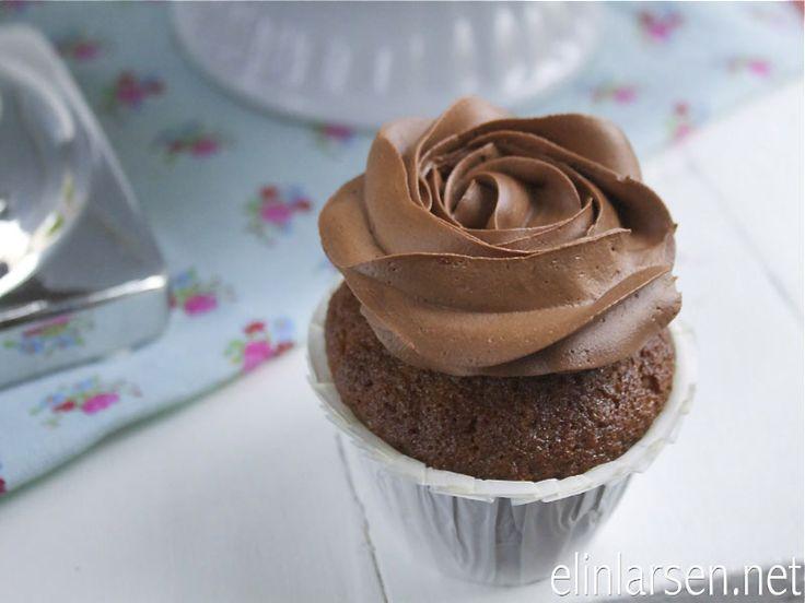 Appelsincupcakes med sjokoladefrosting