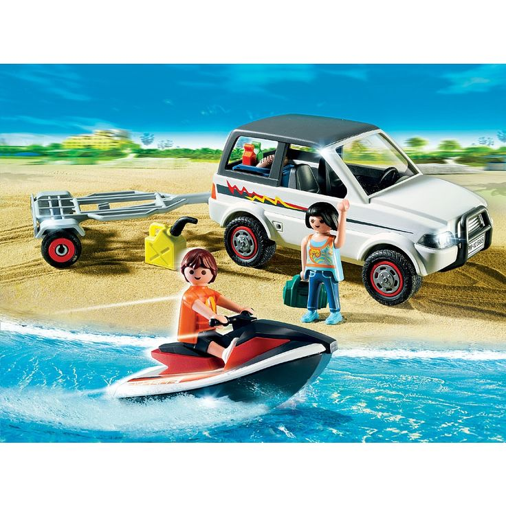 playmobil family suv with jetski 5965 playmobil toys r us playmobil pinterest. Black Bedroom Furniture Sets. Home Design Ideas