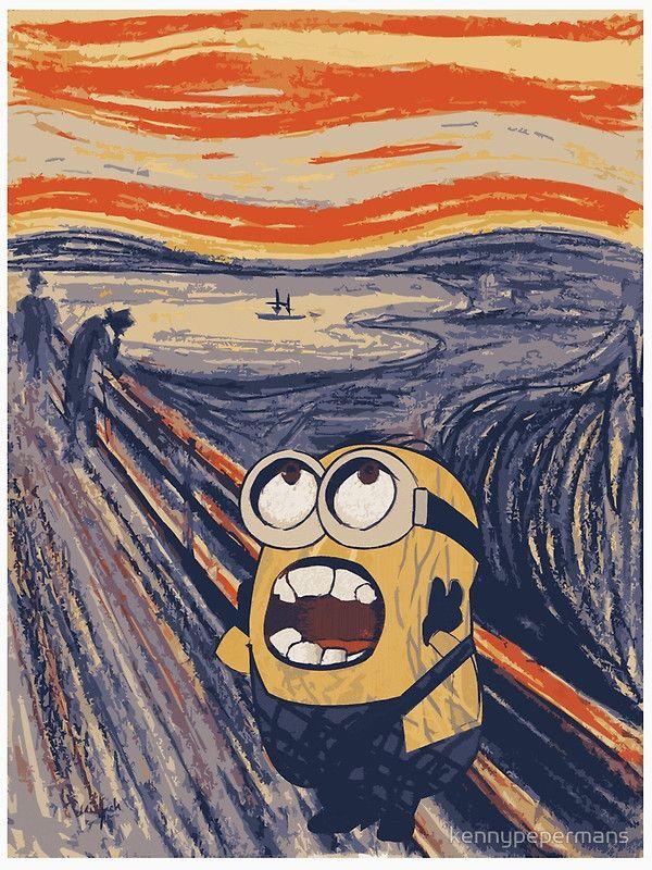 minion munch - the scream | Minion Scream in 2019 | Edvard ...