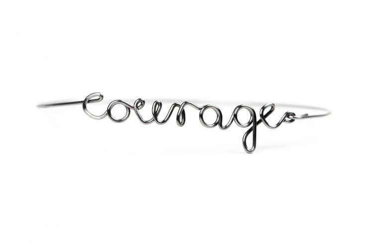 courage | US | stainless steel bracelet | us-words.com