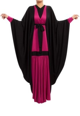 RABIA Z.  DRAPED LONG DRESS/ ABAYA
