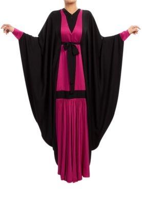 RABIA Z.  DRAPED LONG DRESS/ ABAYA. For sister only gatherings.