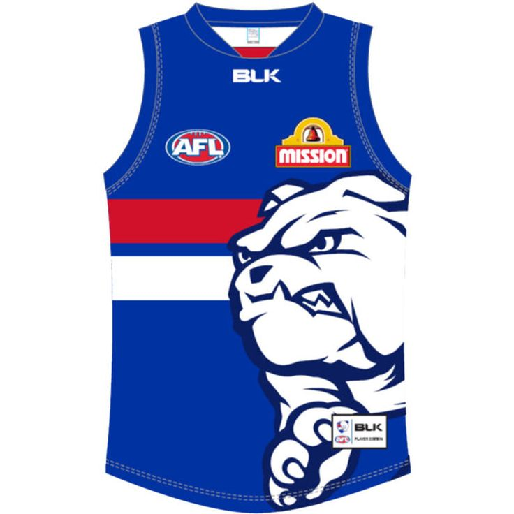 Western Bulldogs 'Be More Bulldog' Guernsey worn in Round 6, 2015
