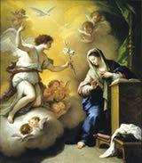 El arcángel Gabriel anuncia a María que será la madre del hijo de Dios.