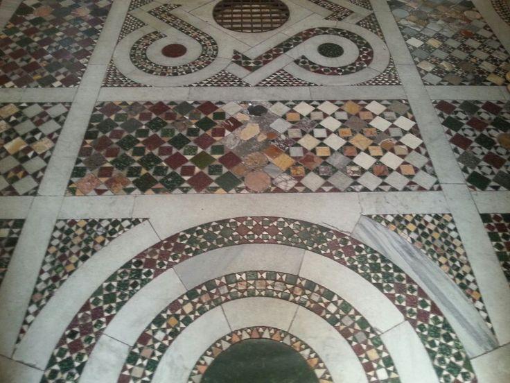 Tempietto's amazing mosaic floor.
