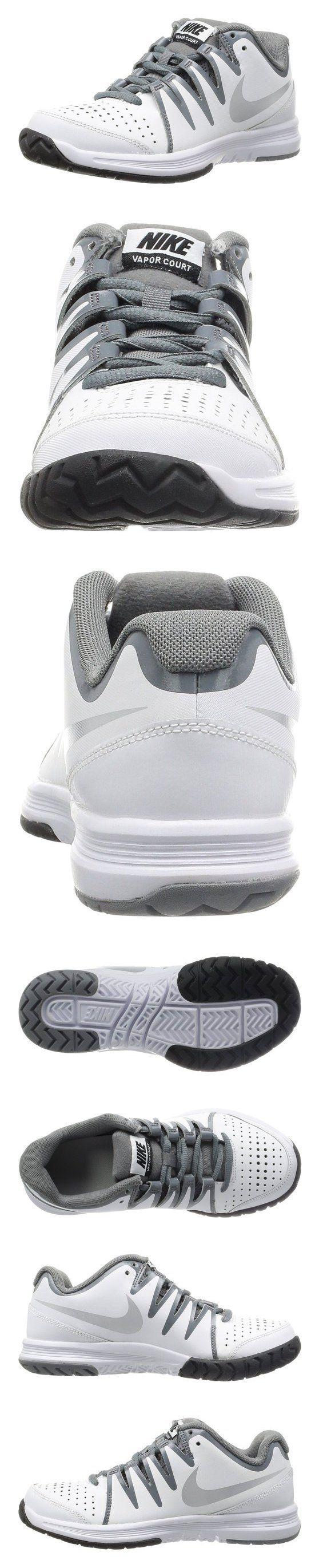 $60 - Nike Women's Vapor Court White/Metallic Silver/Cl Grey Tennis Shoe 8 Women US #shoes #nike #2014