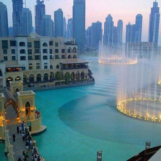 Dubai, UAE, has the world's highest water fountains (sorry, Las Vegas ;