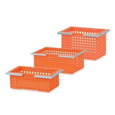Like-It Orange Plastic Scandinavian Style Basket Containers