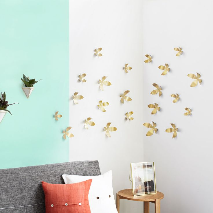 Stickers 3d wall flowers umbra - Objet decoration murale metal ...
