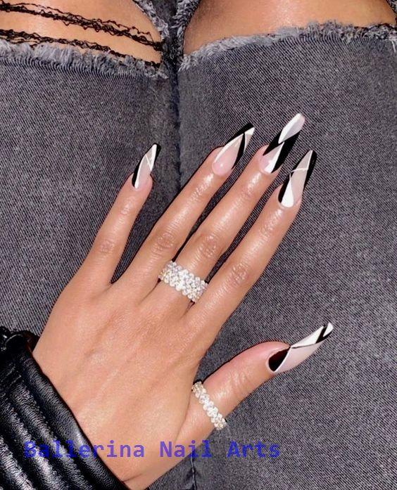 Beliebte Designs für Ballerina-Nägel #ballerinanail #nailart   – Ballerina Nail art