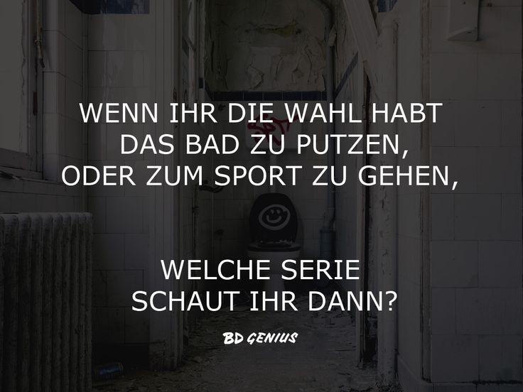 *hust hust* :D  #so true #Faulheit #Sport #Putzen #Hausarbeit #Serie #Film #Ablenkung #Wochenende #Serienjunkie #Netflix #VoD #Sprüche #Quotes #Statements #BDGenius #Putz Tricks #Fitness