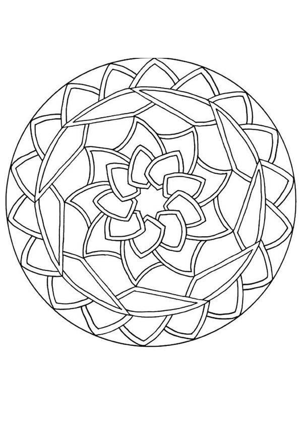 Round Mandala Coloring Page