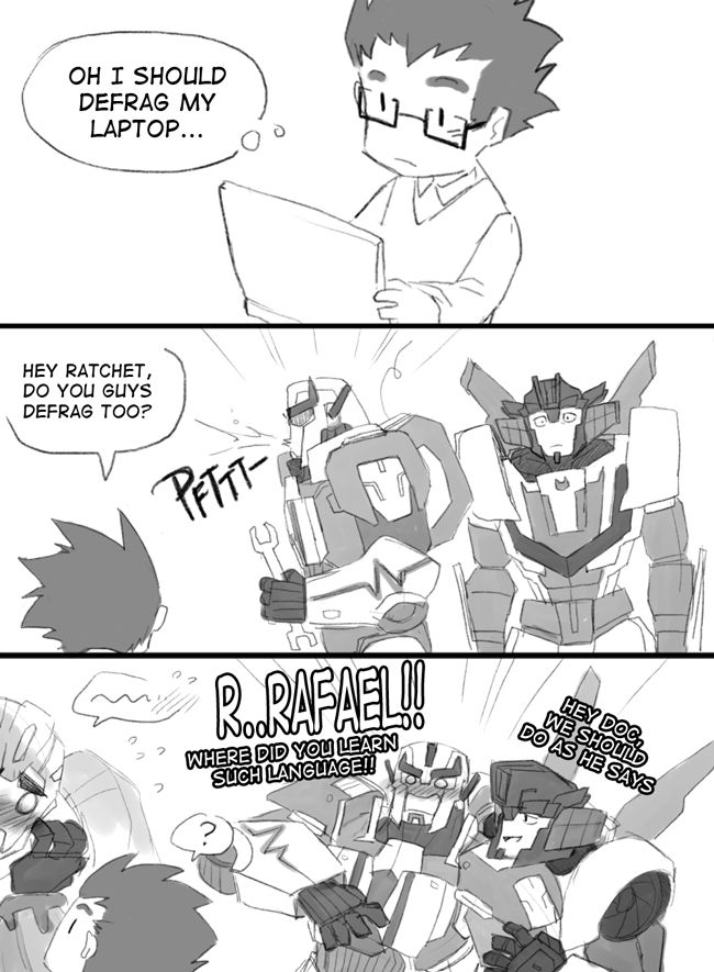I always found it amusing that transformers use computer-talk in different context.