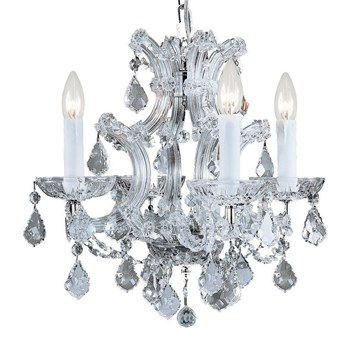 Crystorama 4474-CH-CL-MWP Maria Theresa Majestic Polished Crystal Chandelier in Polished Chrome