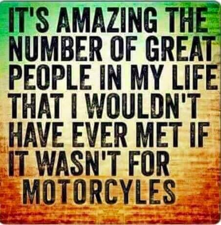 This is exactly what I told my kids after my motorcycle crash... and a big reason why I don't want to give up riding! www.TraceyCramerKelly.com
