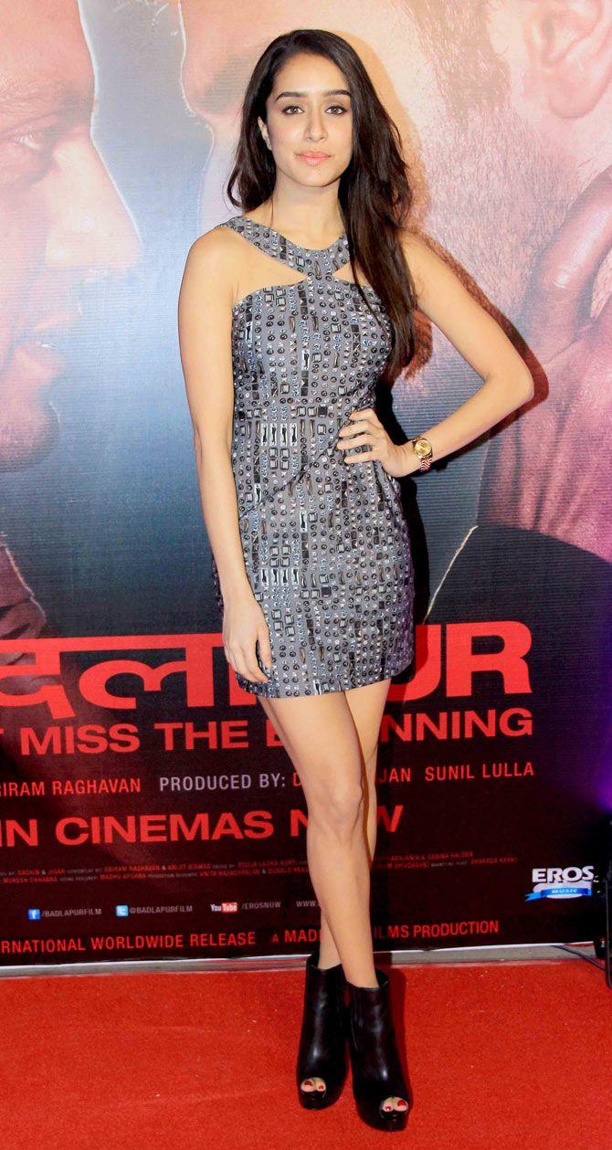 Shraddha Kapoor at the star-studded success bash of 'Badlapur'. #Bollywood #Fashion #Style #Beauty
