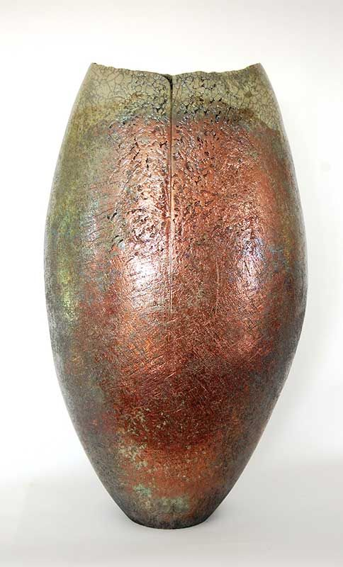 Junction Art Gallery - Stephen Murfitt 'Large Lustred Vessel' http://www.junctionartgallery.co.uk/artists/ceramics/stephen-murfitt