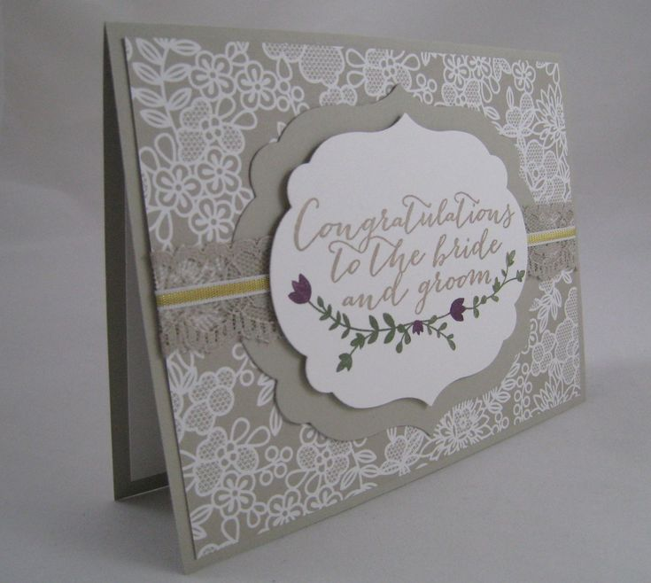 Something Borrowed DSP and For the New Two -Stampin' Up by Miechelle Weber