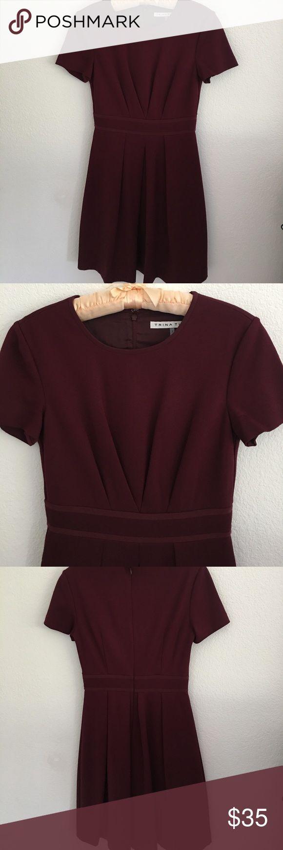 Trina Turk burgundy dress Fabulous Trina Turk dress. NO DISCOUNTS!!!! Trina Turk Dresses