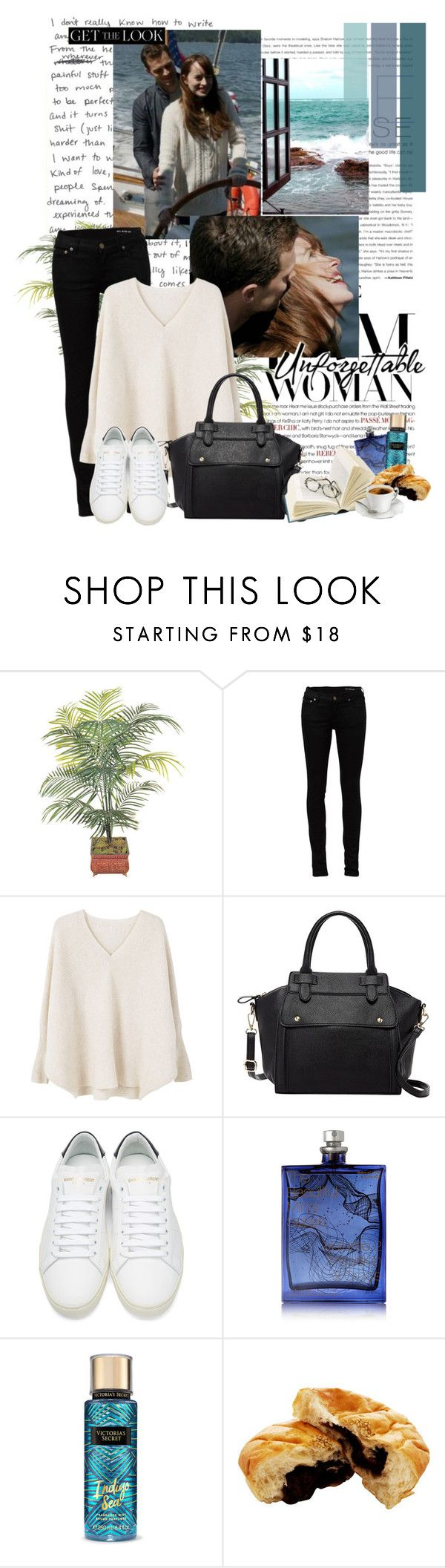 """Anastasia Steele and Christian Grey - Fifty Shades Darker ( Scene of Grace )"" by iced ❤ liked on Polyvore featuring WALL, Yves Saint Laurent, MANGO, Pink Haley and The Beautiful Mind Series"
