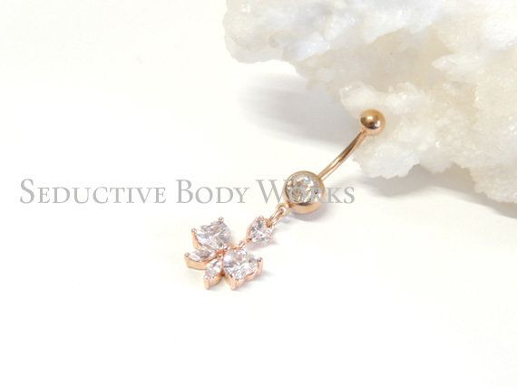 CZ Crystal Gemstone Stylish Panther Dangling 925 Sterling Silver Belly Ring Body Jewelry