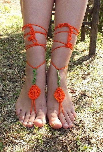 ücretsiz gemi Boncuk Oya Ayak Takı Giyim Yoga Hippi Festivali Boho Plaj Halhal Hedef düğün saçaklı ayakkabıları