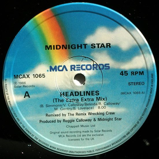 "Midnight Star - Headlines: compra 12"", Single su robxrecords.it"