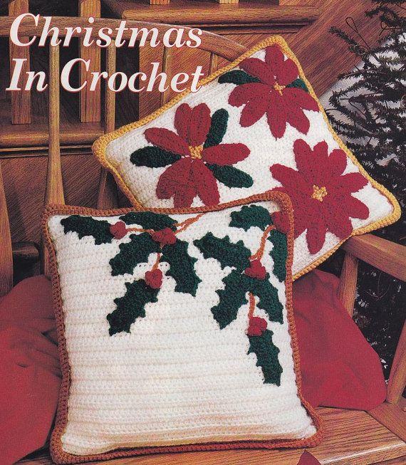 Knitting Pattern Christmas Cushion : 123 best Crochet-Pillows images on Pinterest