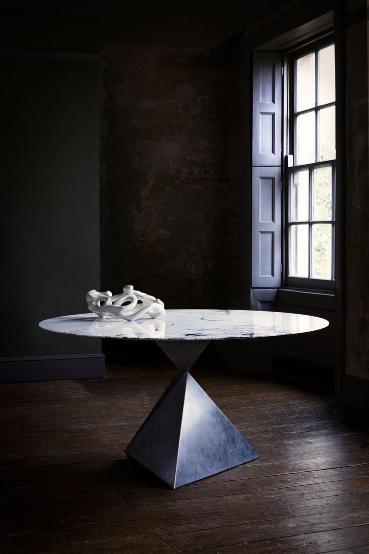 AVA #dining_table in #marble and #bronze. #furniture for the home