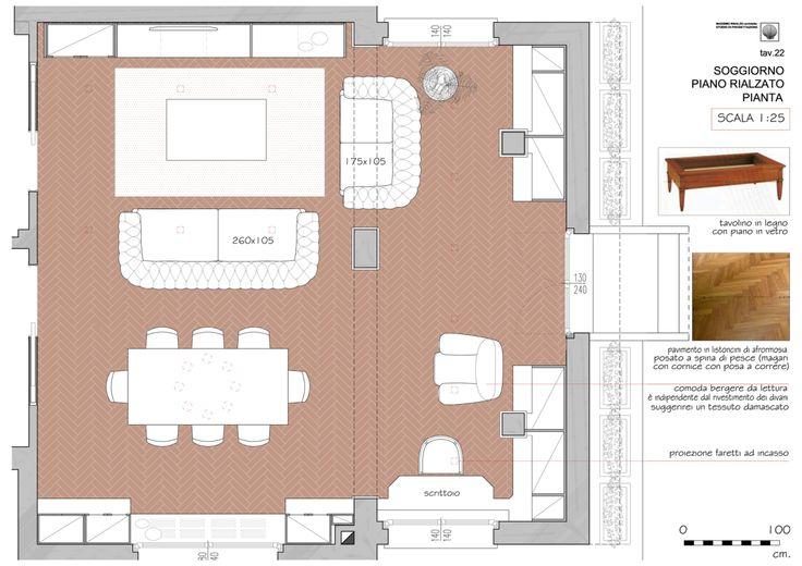 living & dining level 0 plan - Massimo Rinaldo architetto