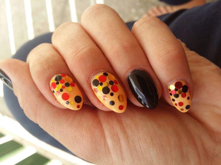 Piegi#confetti#nail art