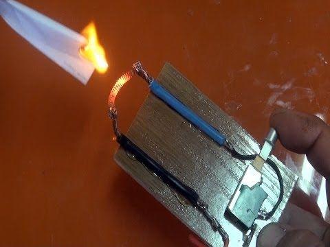 Mechero eléctrico para emergencias - YouTube