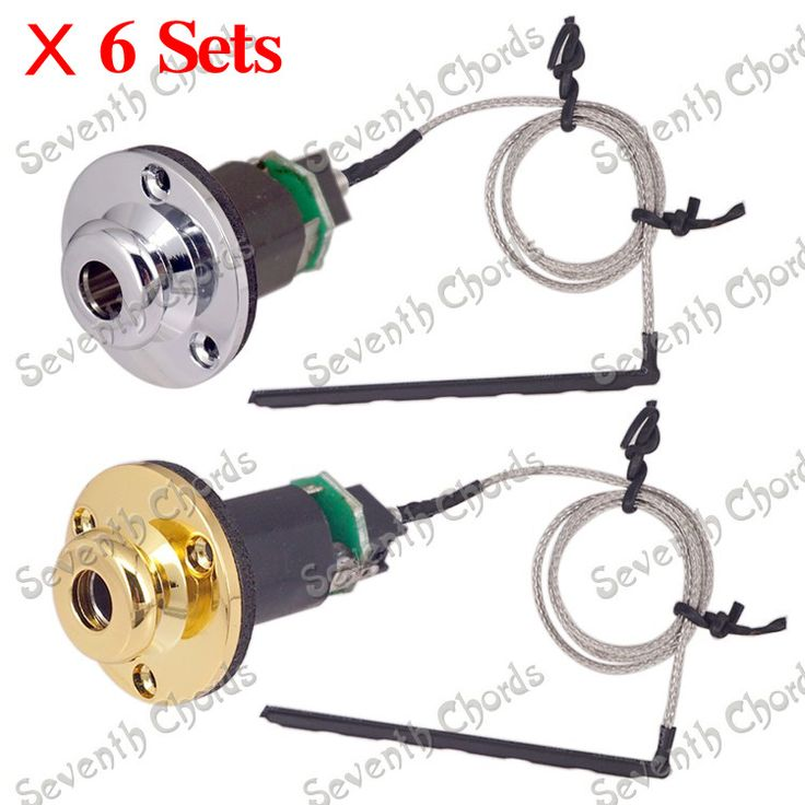 ==> [Free Shipping] Buy Best 6 Set Do not need Battery Acoustic Guitar Under-Saddle Pickup Pick-up Piezo Cable Stick 6.35mm Endpin Jack Online with LOWEST Price | 32511281777