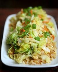 Cabbage Fried Rice | Cabbage is a super-healthy vegetable that's available year-round, making this fried rice great for a light winter meal.