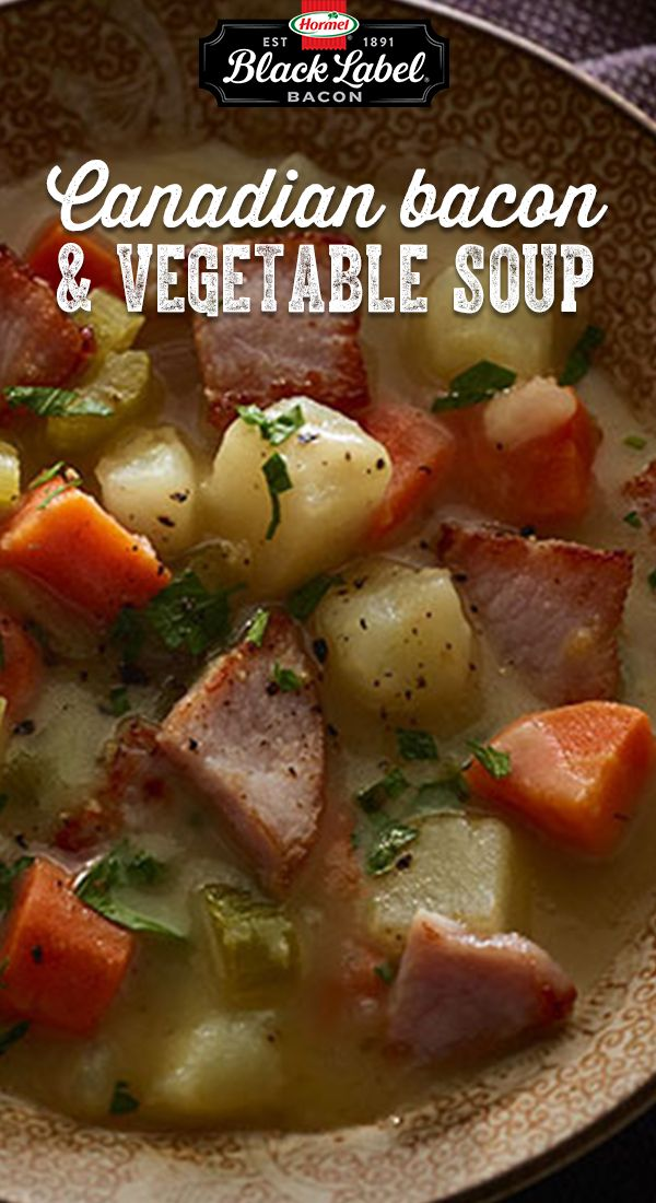 Canadian Bacon and Vegetable Soup                                                                                                                                                                                 More