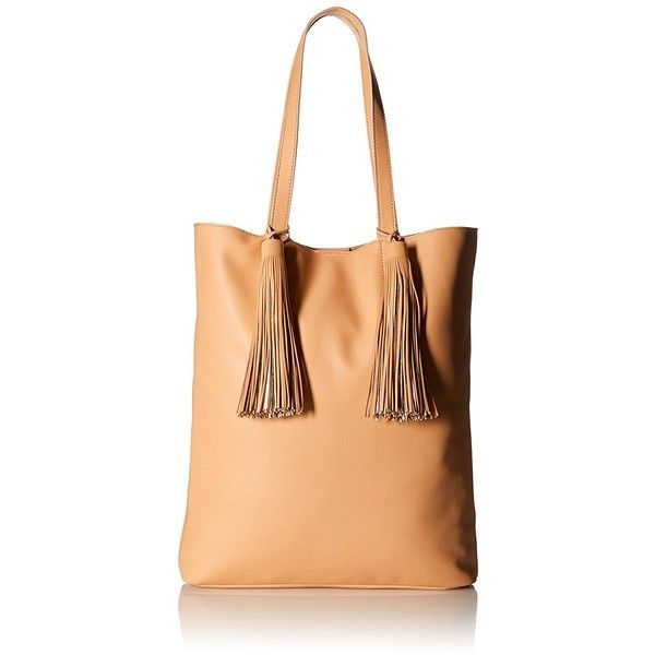 LOEFFLER RANDALL Cruise Tote (Nappa/Goat Tassels) ($395) ❤ liked on Polyvore featuring bags, handbags, tote bags, loeffler randall purse, beige tote, beige handbags, tote purses and loeffler randall tote