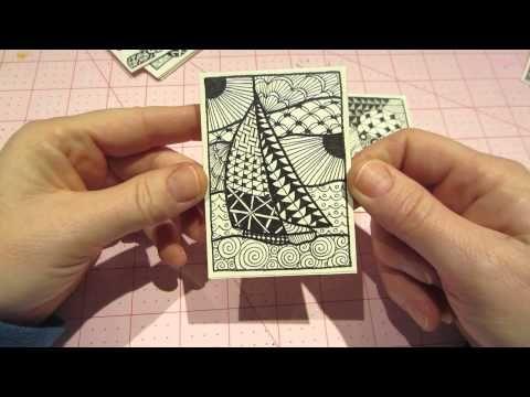 Zentangle, Artist Trading Cards ☆ Handicraft Ideas - YouTube