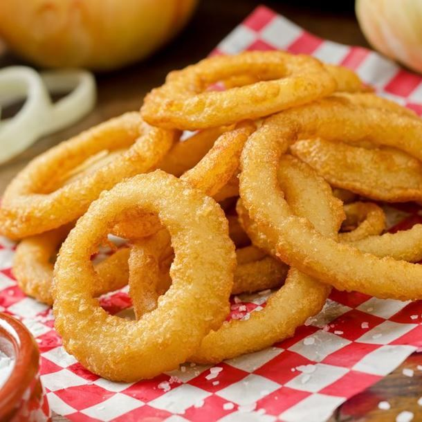 Beignets d'oignons (onion rings)