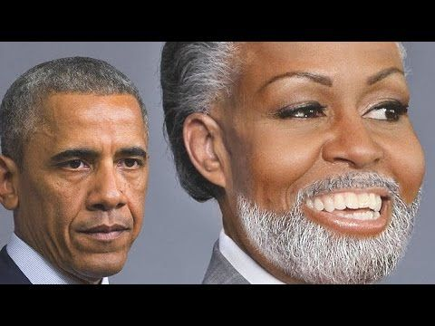 Michelle Obama We Know You're a MAN! Stop LYING, Tranny!