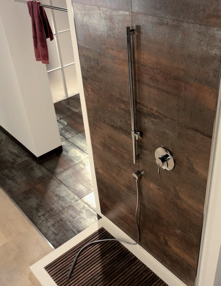 Corten by tau gres bathrooms pinterest products - Metallic fliesen ...